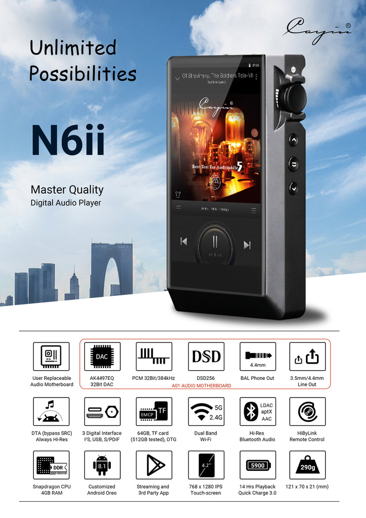 Cayin N6ii Master Quality Digital Audio Player - MusicTeck