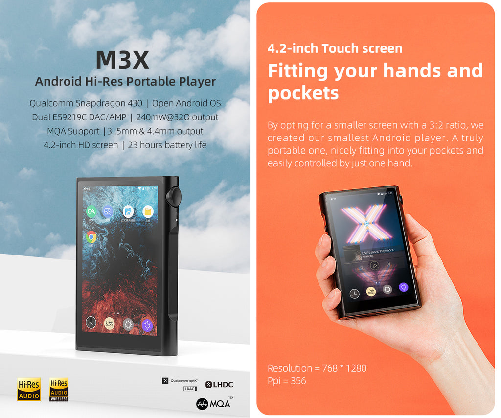 Shanling M3X Portable Music Player - MusicTeck
