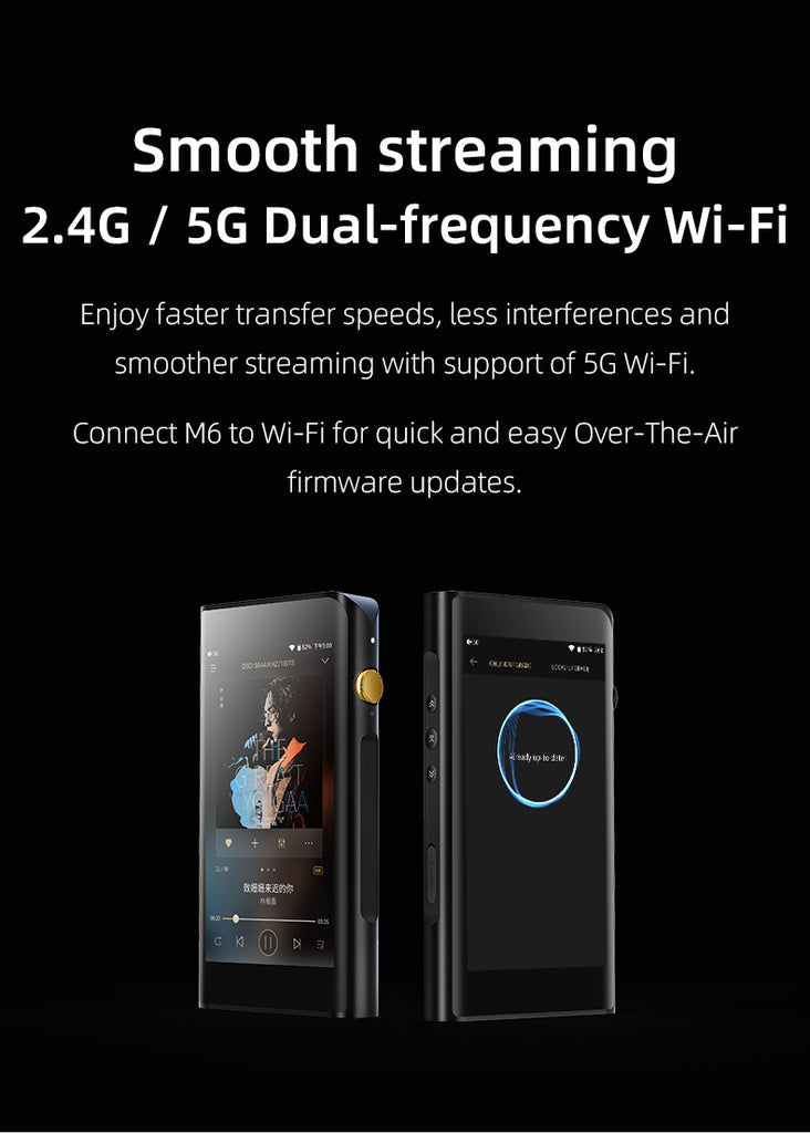 Shanling M6 21 HIFI MP3 Audio Player Android OS Loseless Hi-Res Music Portable Player - MusicTeck