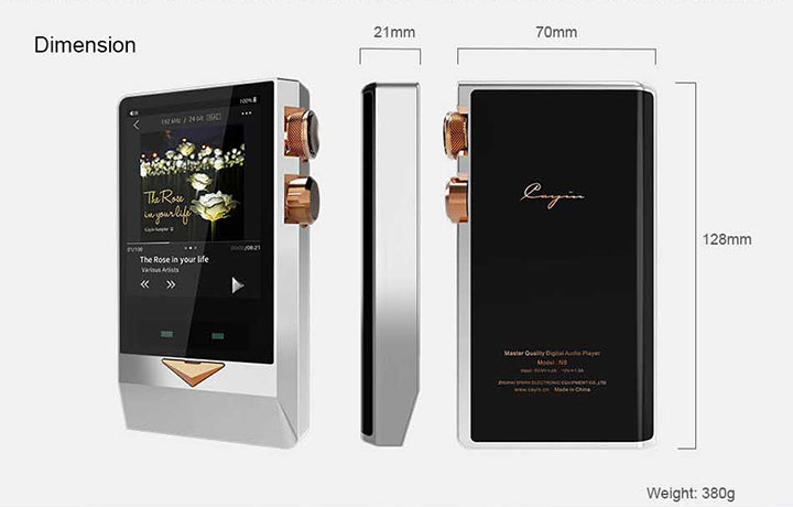 Cayin N8 Master Quality Digital Audio Player - MusicTeck