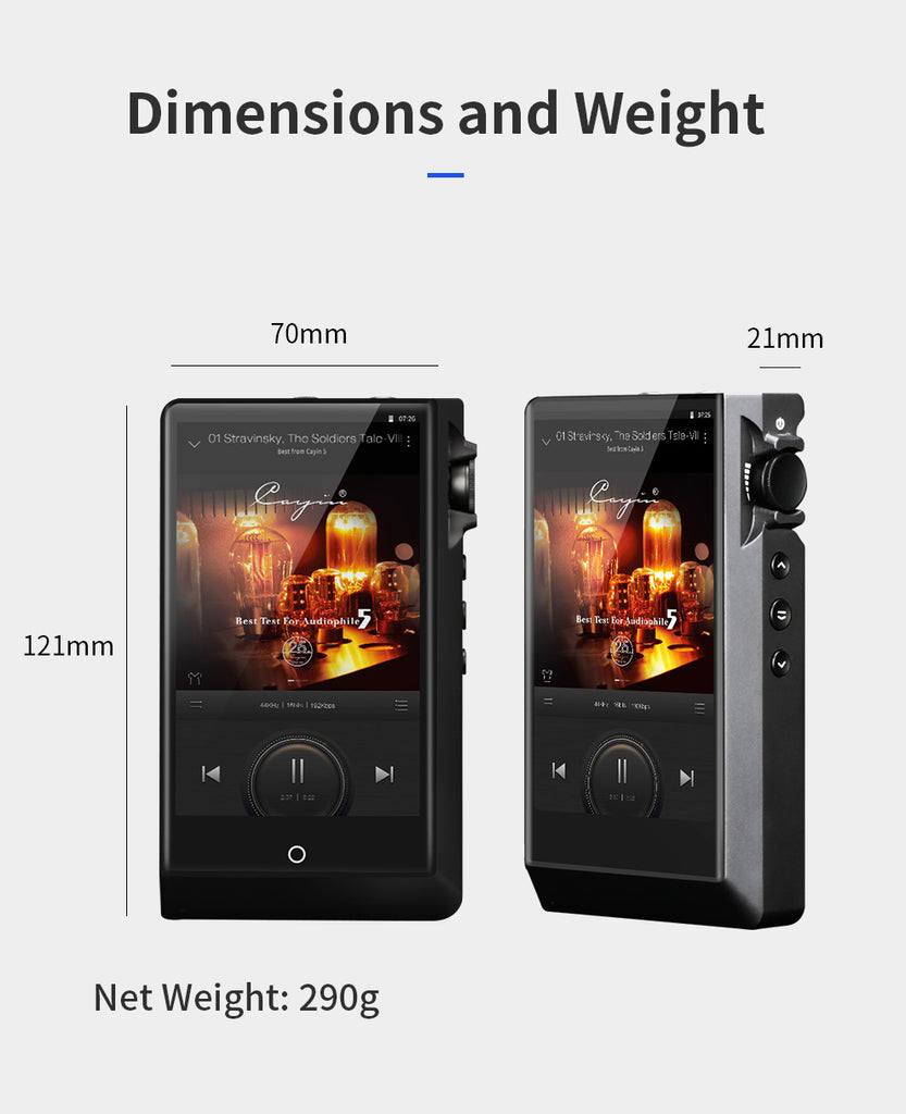 Cayin N6ii Master Quality Digital Audio Player (A01/T01/E01/E02)- MusicTeck
