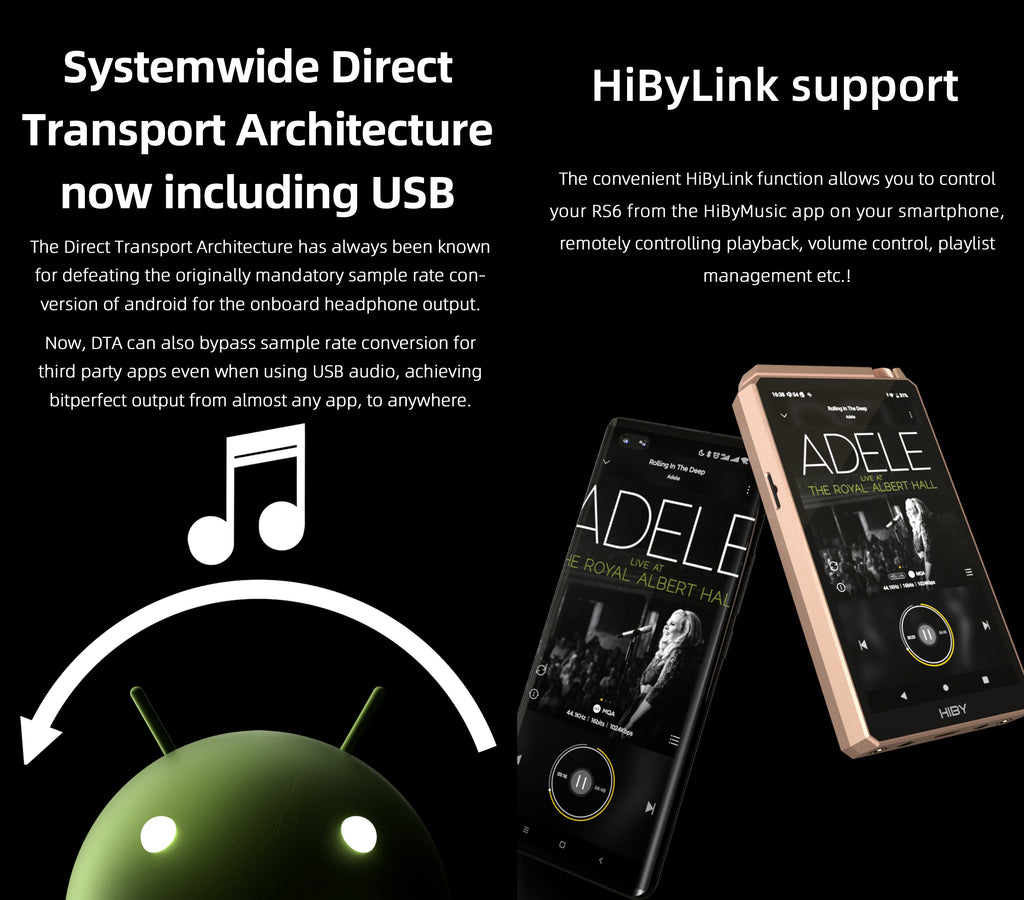 HiBy RS6  Hi-Res Music Player - MusicTeck