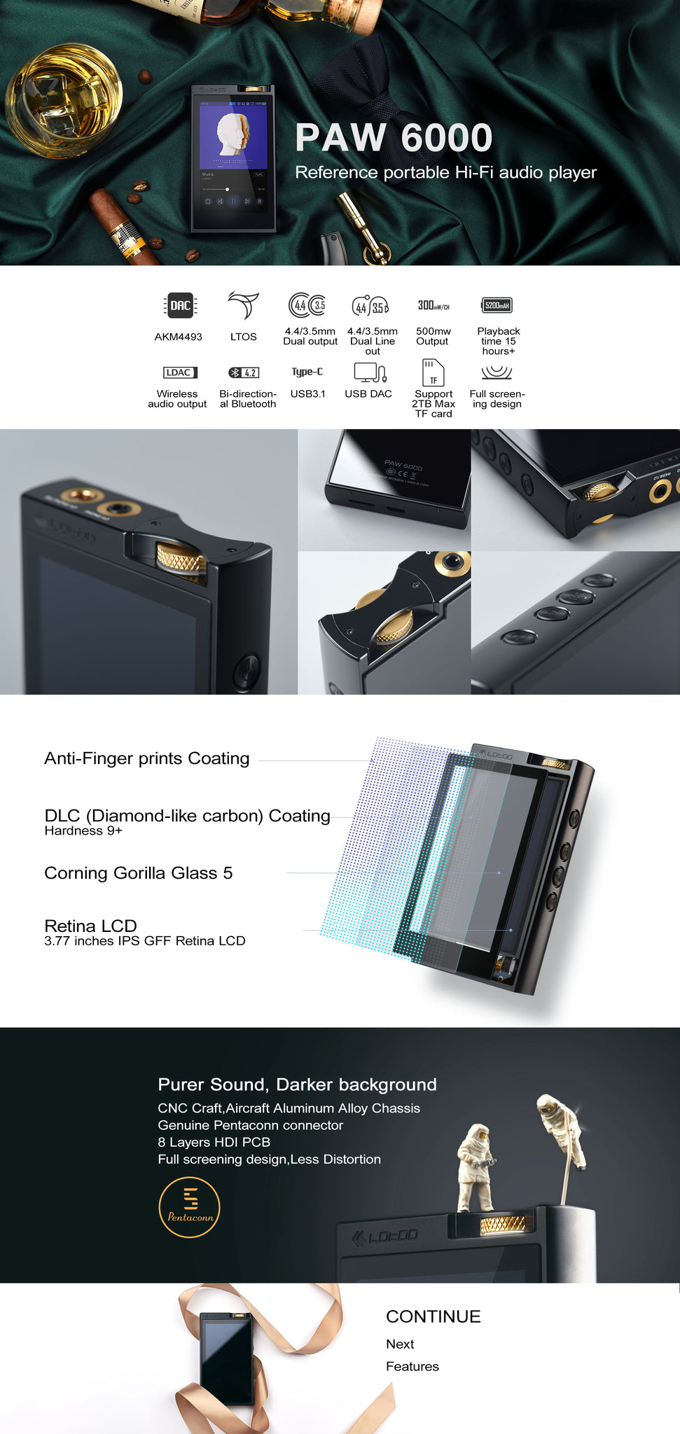 Lotoo PAW 6000 Reference Grade Portable Audio Player