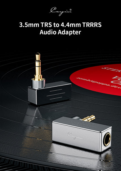 Cayin 3.5mm TRS to 4.4mm TRRRS Audio Adapter - MusicTeck