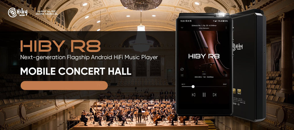 HiBy R8 flagship Android HiFi music player - MusicPlayer