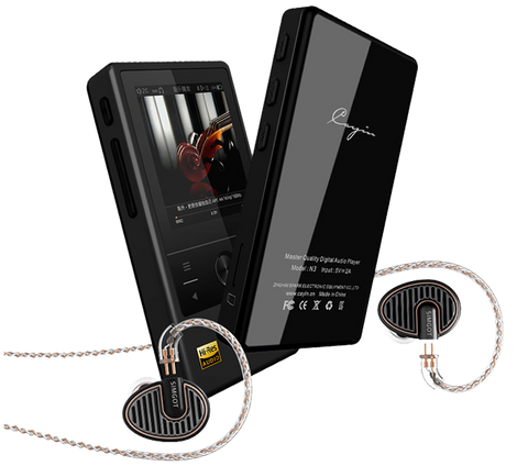 Cayin N3 DAP Master Quality Digital Audio Player (Special Edition with Tempered Glass Back Panel ) and EN700Pro Earphone with 2-pin Removable 8-core Premium Cable