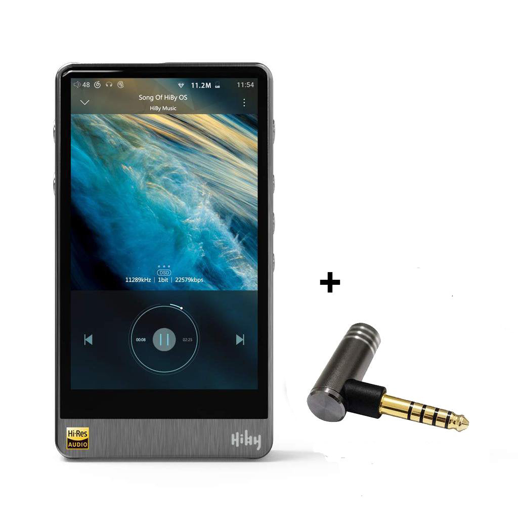 HiBy R6 Pro Portable Hi-Fi Music Player Hi-Res Audio Player Bluetooth MP3 Player with Free Cayin 2.5mm Female to 4.4mm Male Adaptor -- MusicTeck