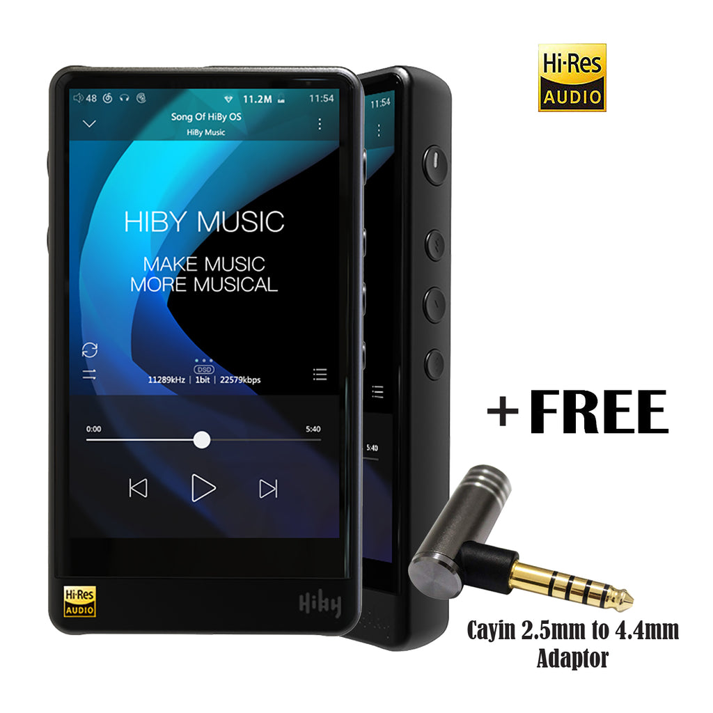 HiBy R6 Pro (Aluminum Alloy Black/Gray) Portable Hi-Fi Music Player Hi-Res Audio Player Bluetooth MP3 Player, Newly Updated Android OS 8.1