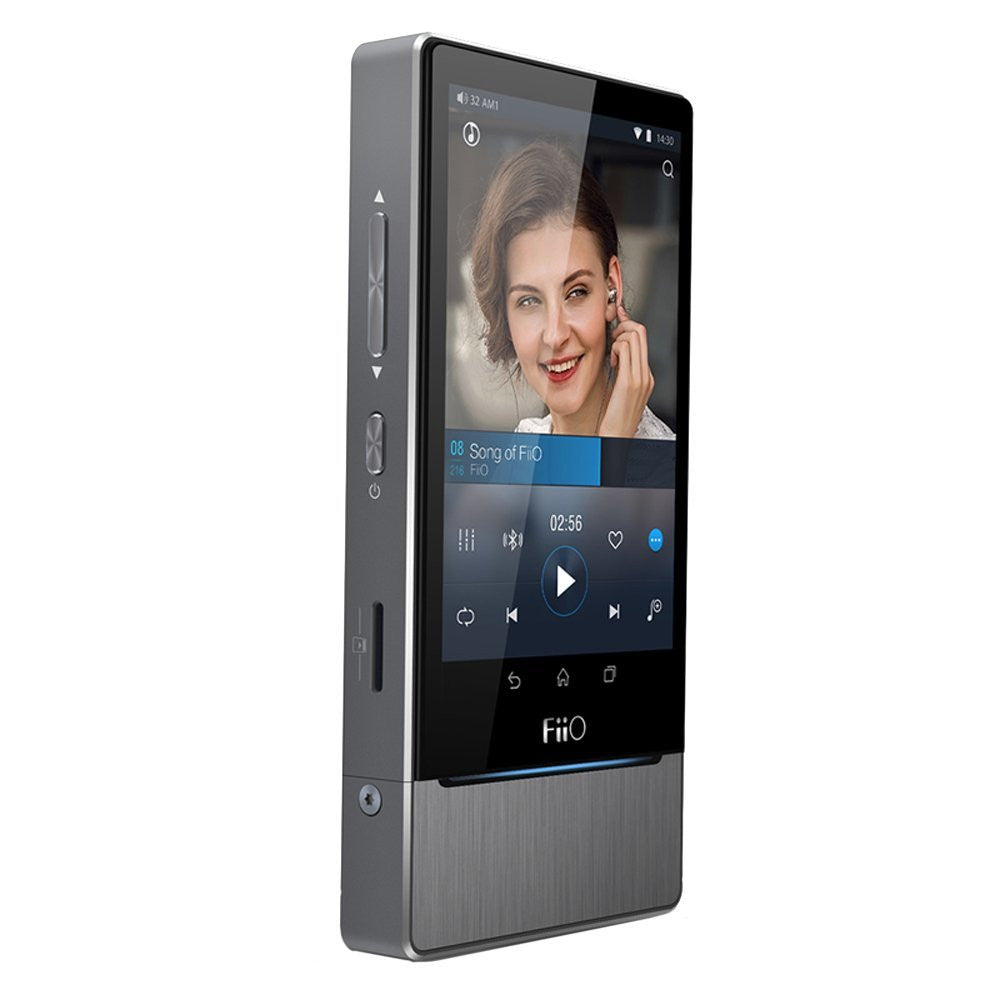 FiiO X7 32GB Hi-Res Lossless Music Player, Titanium with Free Shure SE215 Earphones