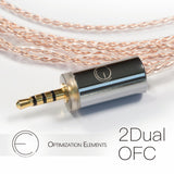 OEAudio 2DualOFC Cable High-Fidelity Earphone Cable - MusicTeck