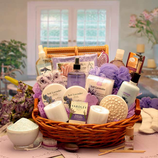 The Essence of Lavender Spa Gift Basket