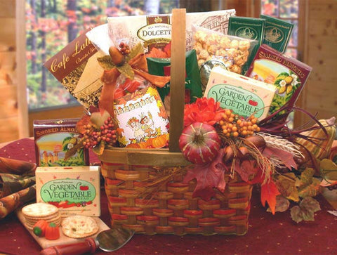 Fall Seasonal Line: Harvest Blessings Gourmet Fall Gift Basket