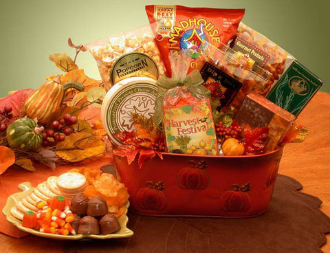 A Fall Harvest Gourmet Snacks Gift Basket