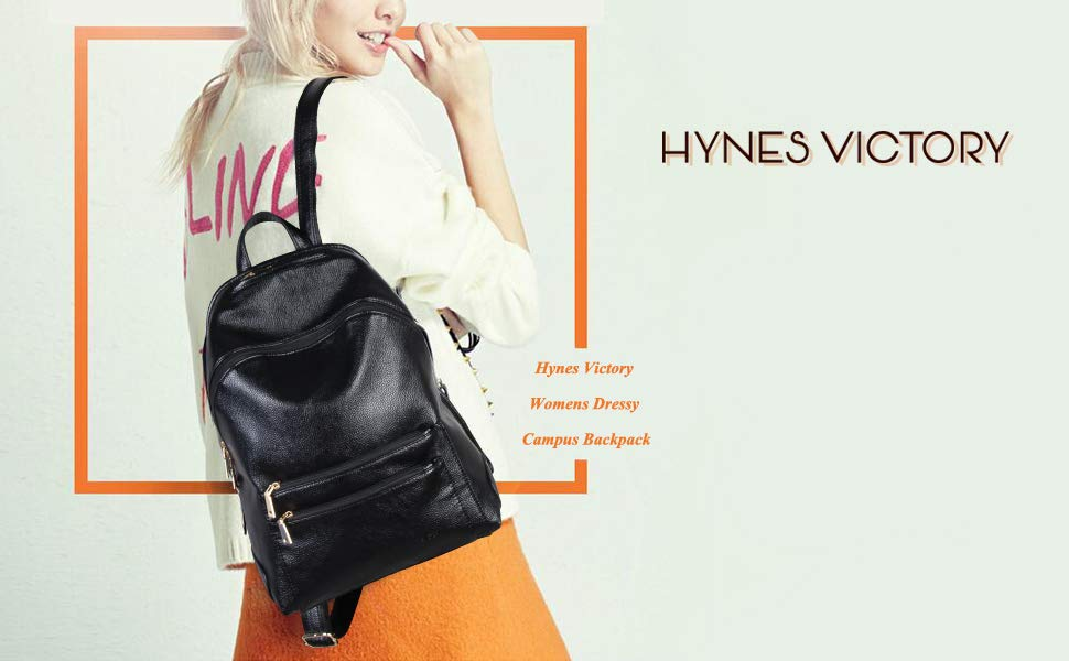 Hynes Victory Women Pink Faux Leather Backpack Purse Travel Shoulder Bag Daypack