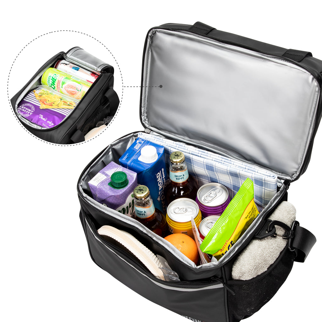 Veevanpro Insulated Cooler Bag Waterproof Leakproof Cooler Tote 24 Cans 20L