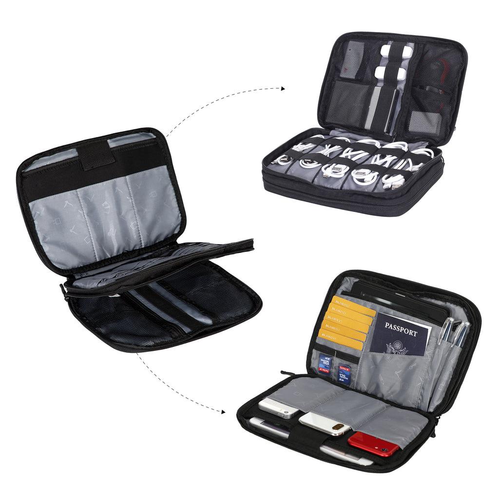 Double Layers Travel Accessories Electronic Organizers