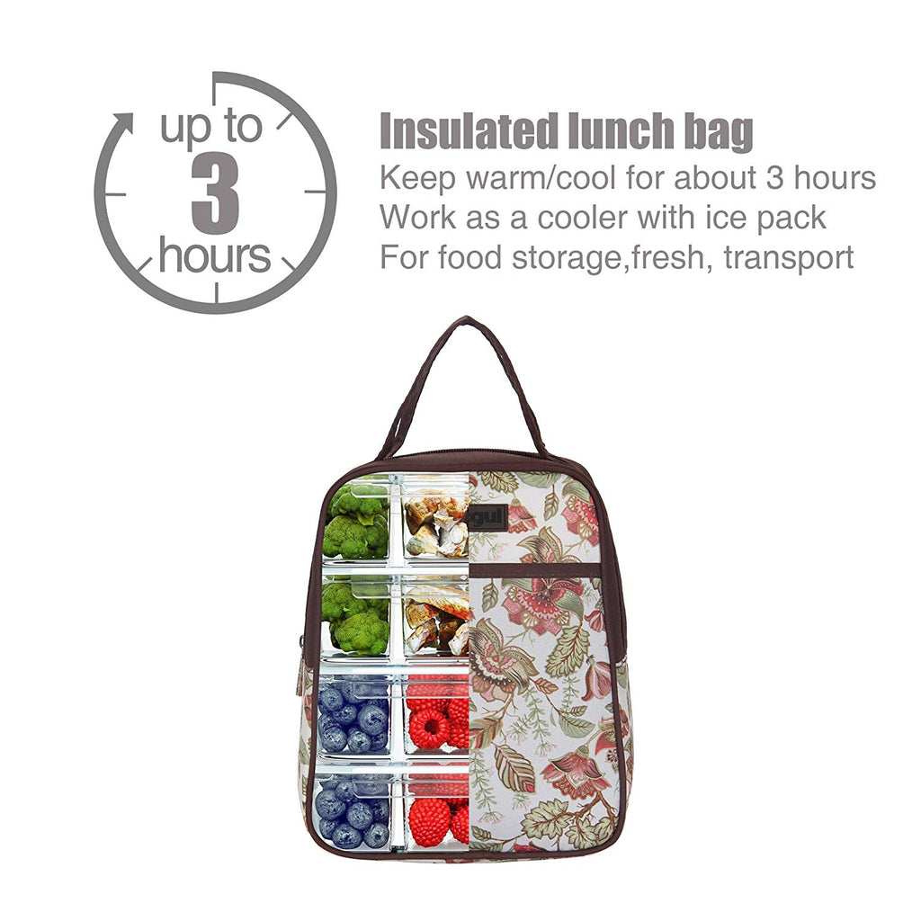 Outdoor Cooler Insulated Lunch Bag for Women Men Kids