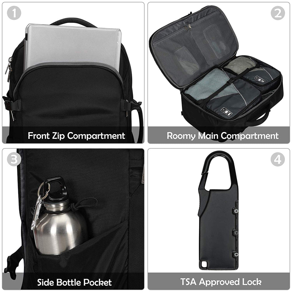 45L Travel Accessories Carry on Backpack with TSA Approved Lock