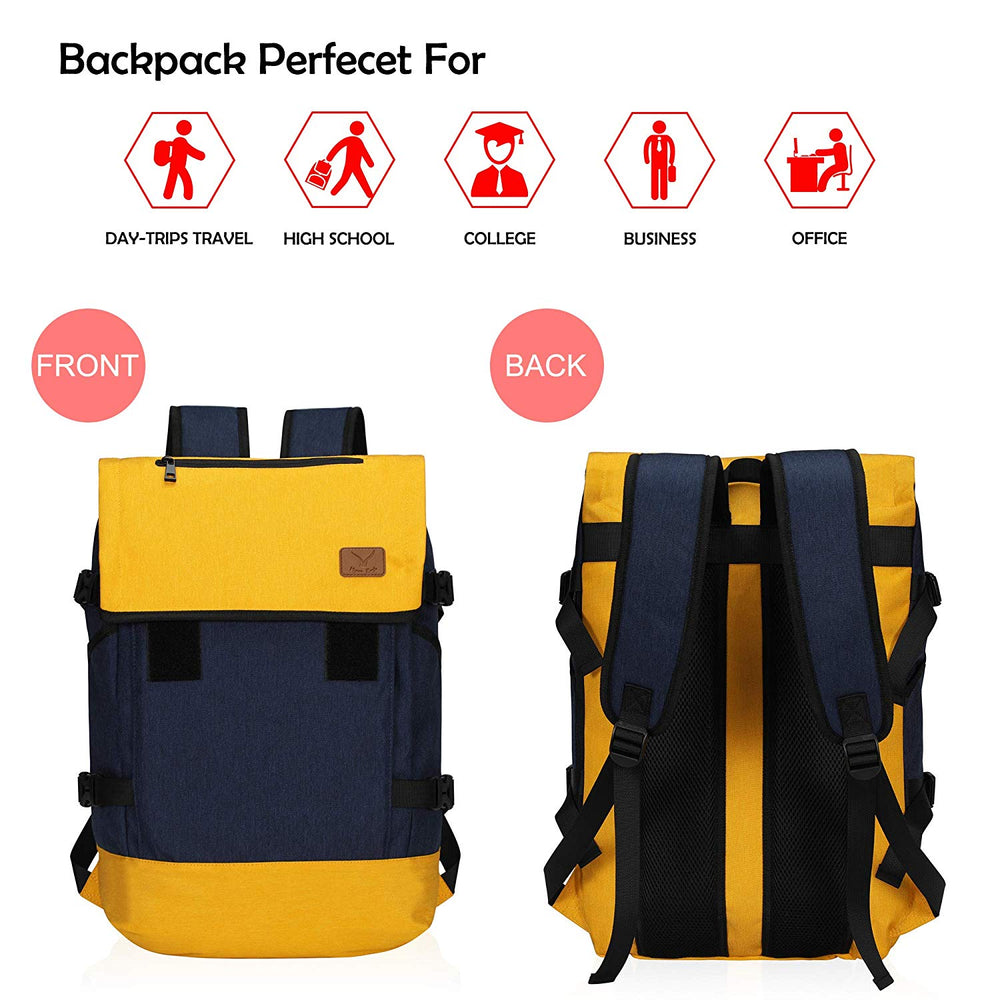 15.6 inch Laptop Backpack Color Blocking Multipurpose Daypack