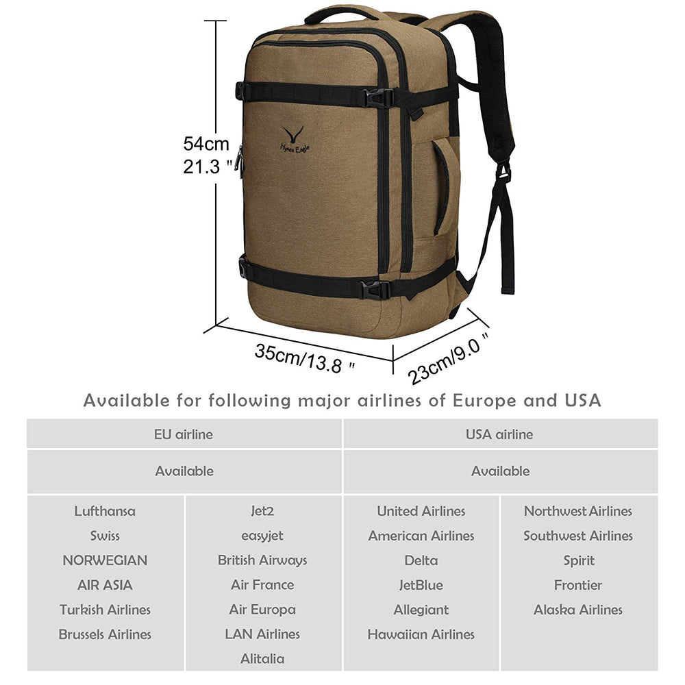40L Travel Airline Approved Carry on Backpack
