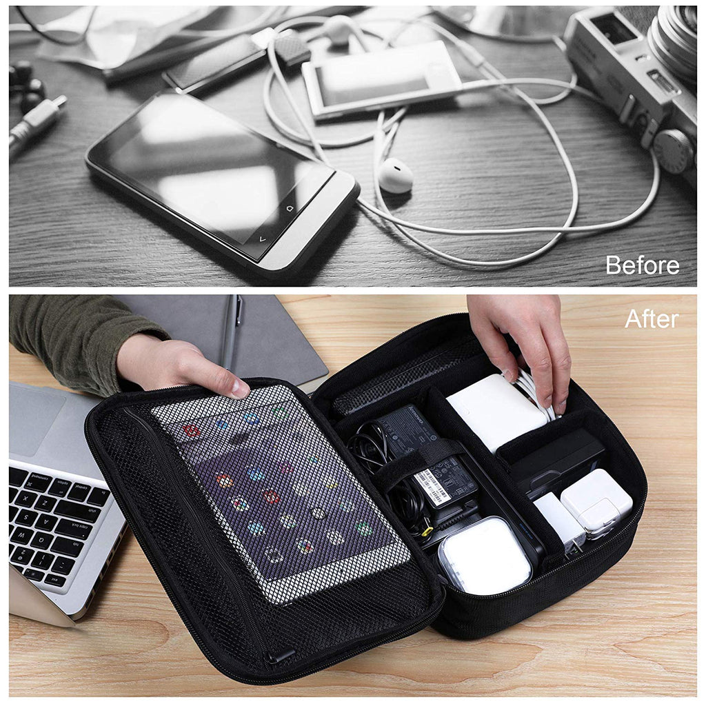 Electronics Organizer Travel Storage Bag with Replaceable Inner Velcro