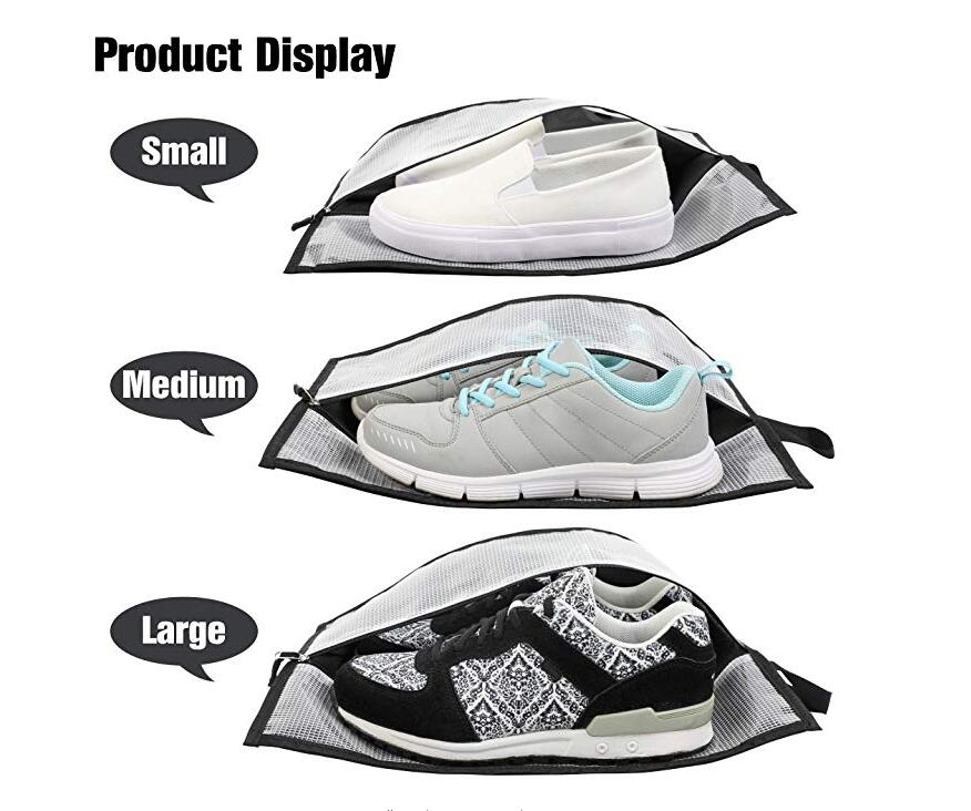 Travel Waterproof Shoes Organizer with Zipper Closure