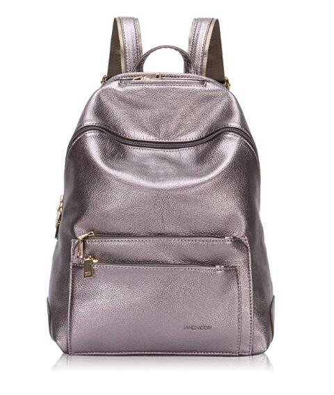 Faux Leather Backpack for Women Dressy Campus Backpack Purse