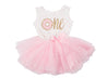 Pink Polka Dot Donut Birthday Dress - (First Birthday Dress - First Birthday Outfit)