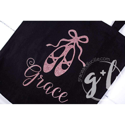 Personalized Ballet Tote Bag with