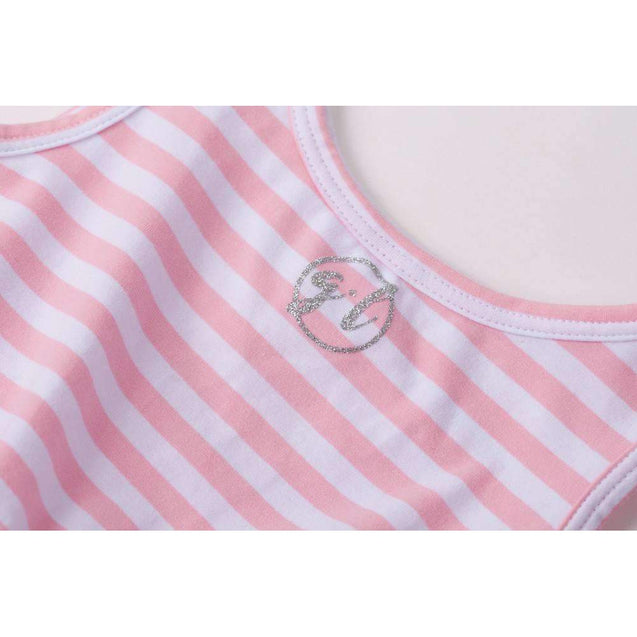 Anchors Away Personalized Dress Blue Anchor Pink Striped Long Sleeves - Grace and Lucille