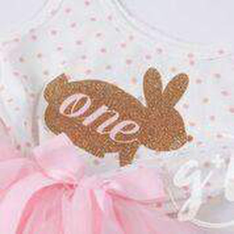 Easter Bunny 1st Birthday Gold