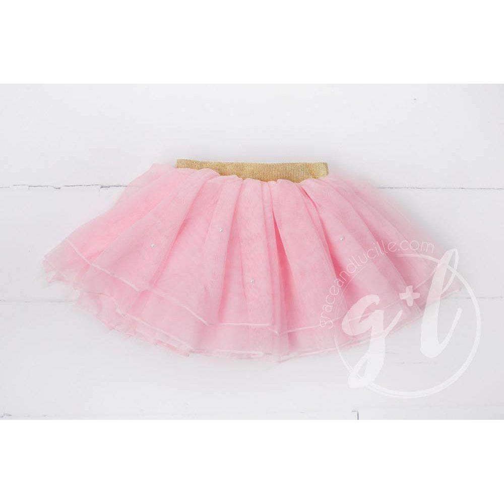 Bejeweled Pink Tutu - Grace and Lucille