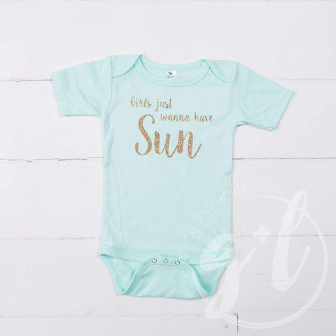 Mint Onesie with Gold