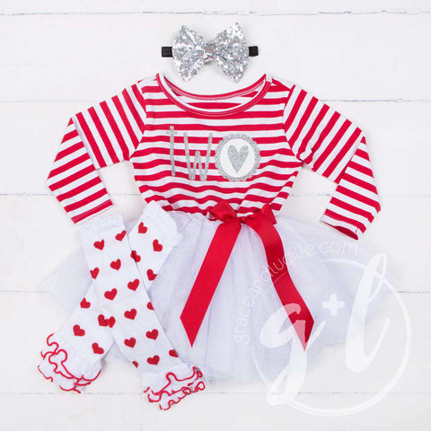 Scalloped Heart Birthday Dress Outfit