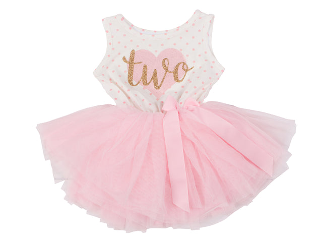 2nd Birthday Dress - Polka Dot (Sleeveless)