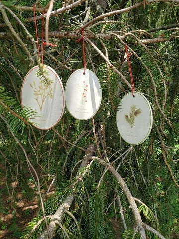 A2 - Herbal Ornament SET OF 3