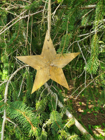 A2 - Wooden Star Ornament Small