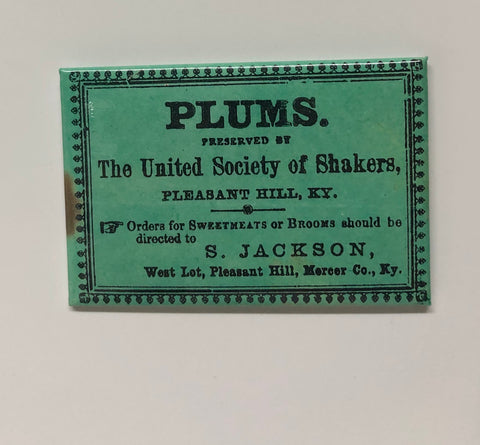 SVPH: Pleasant Hill Plums Label Magnet