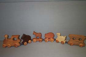 A - Wooden Toy: Animal Train