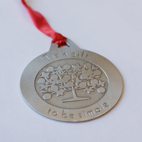 A1 -  Tis a gift to be Simple Pewter Ornament