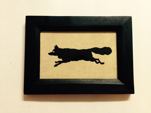 Black Fox Picture and Picture Frame