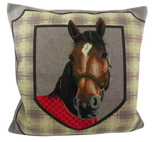 Grey Horse Pillow