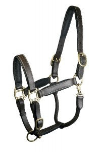 Fully Adjustable Padded Leather Horse Halter