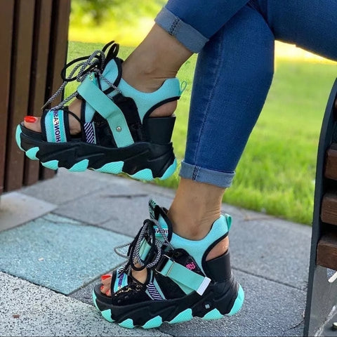 Lace Up Buckle Punk Sandals