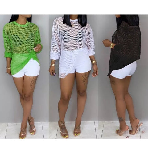 GREEN SPRING IT MESH TOP