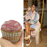 CUPCAKE RHINESTONE MINI CLUTCH