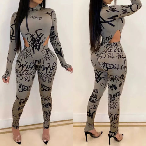 GRAY GRAFFITI 2 PIECE