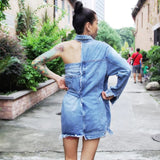 HOLLOW DENIM DRESS