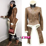 CARMEL LEATHER COAT