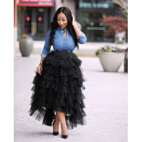 BLACK CUSTOM TULLE SKIRT